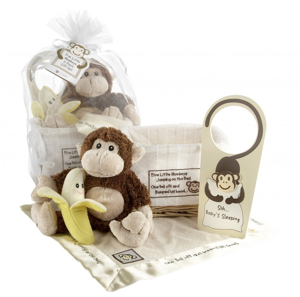 Baby Aspen Gift Set Five Little Monkeys