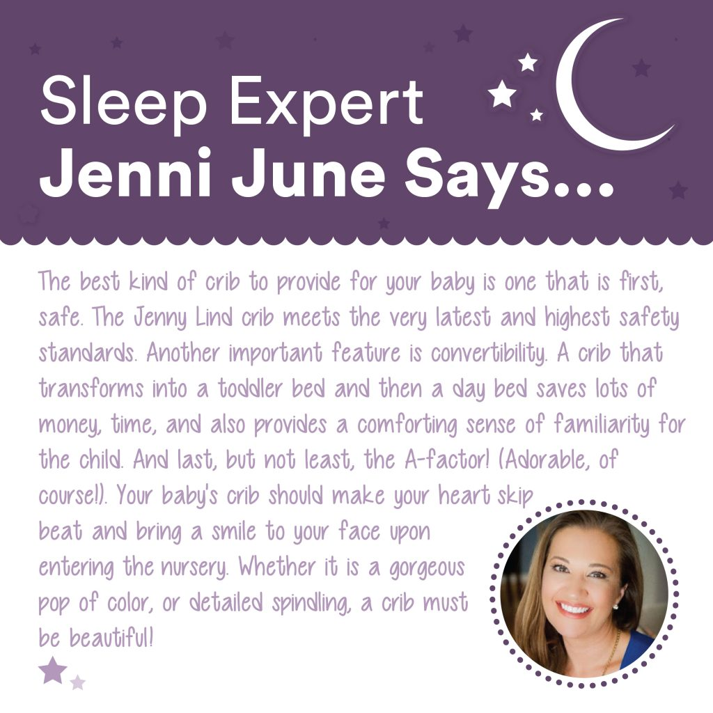 Project Nursery and What Jenni June says about the Jenny Lind crib