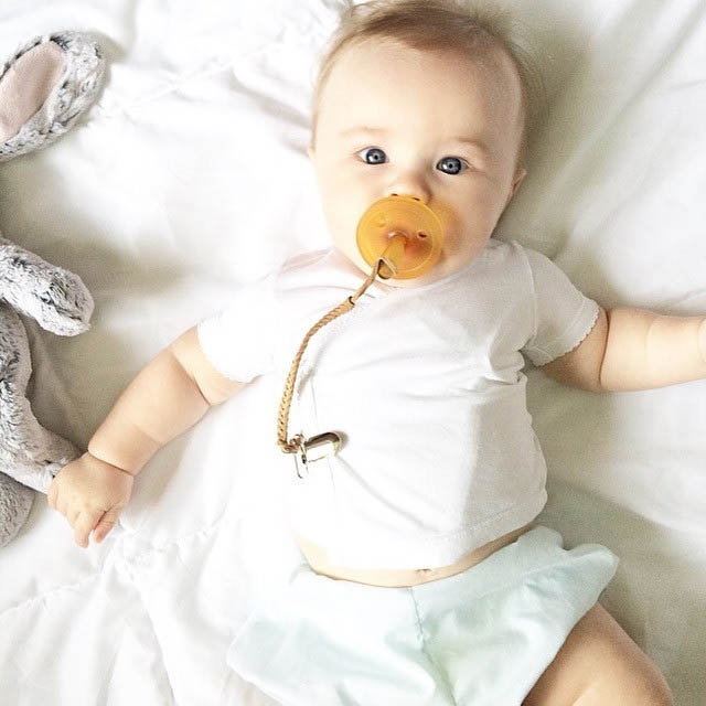 Madeline's Box Leather Braided Pacifier Clips