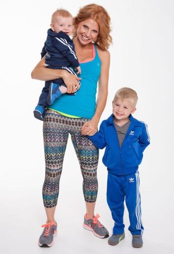 Sara Haley and kids