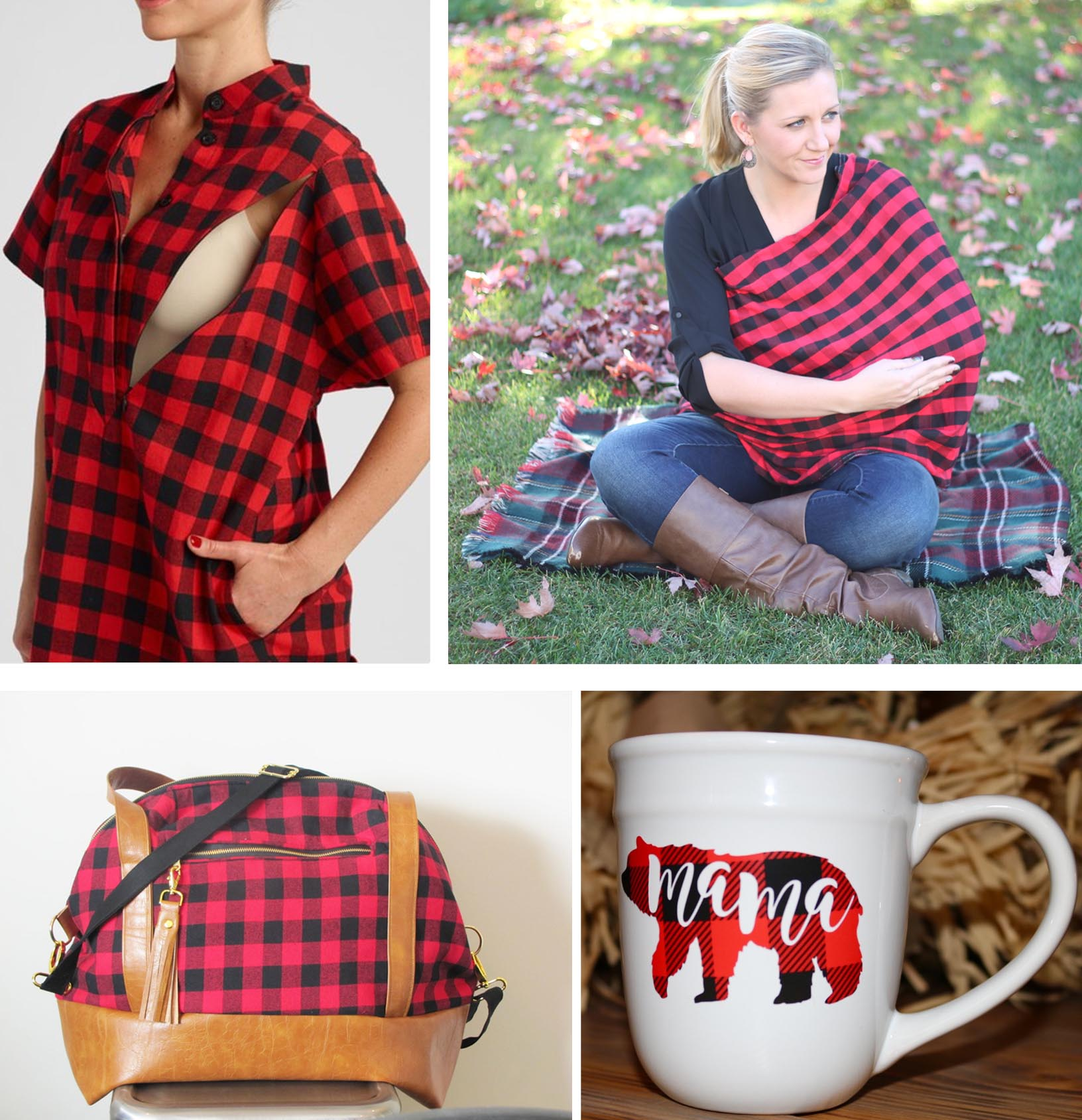 For Mama We Are Sort Of Obsessed With These Rustic Chic Buffalo Plaid Ideas Suggest Adding To Your Baby Registry Or Gifting Them A