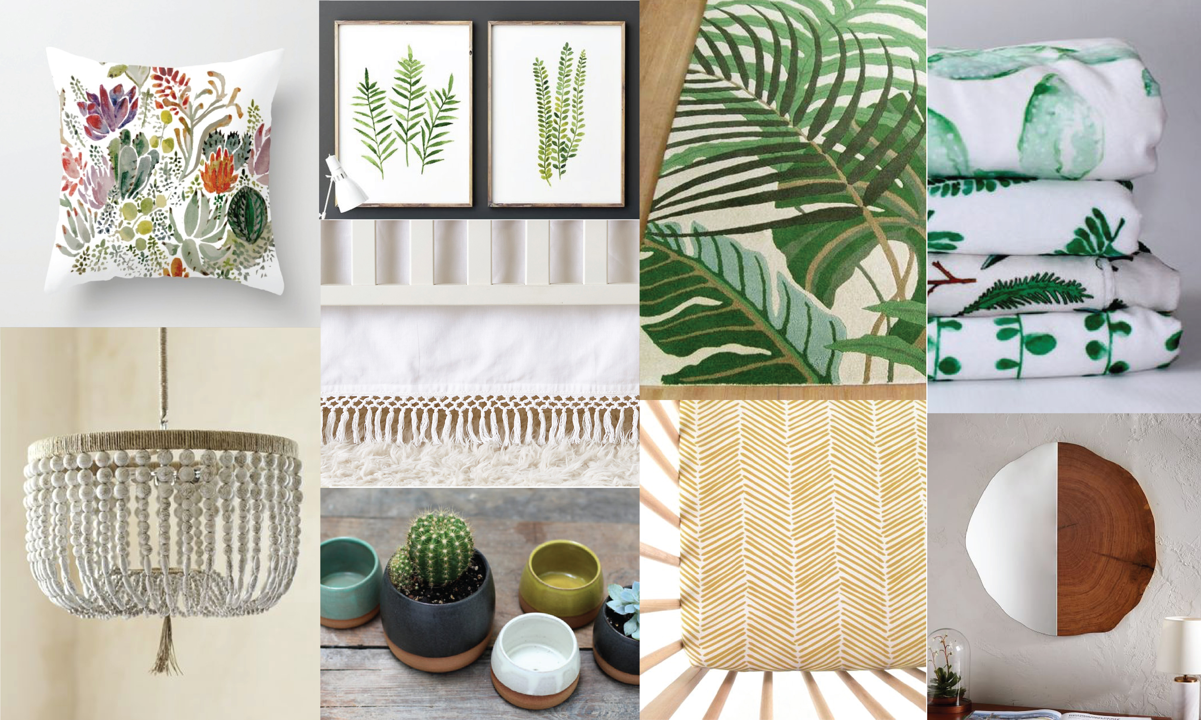 If You Re Looking For A Fresh And Clean Design Scheme Your Baby S Nursery Check Out Our Botanical Theme Picks After All Greenery Is The