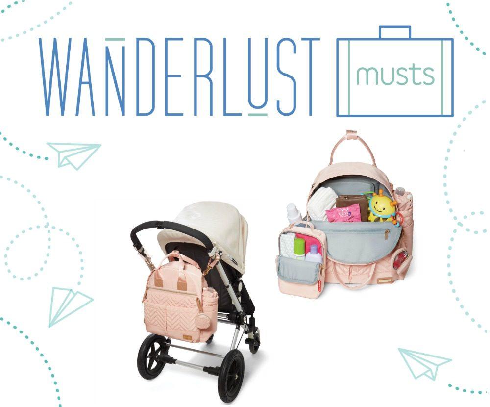 Wanderlust Must: SUITE by Skip Hop 6-in-1 Diaper Backpack Set
