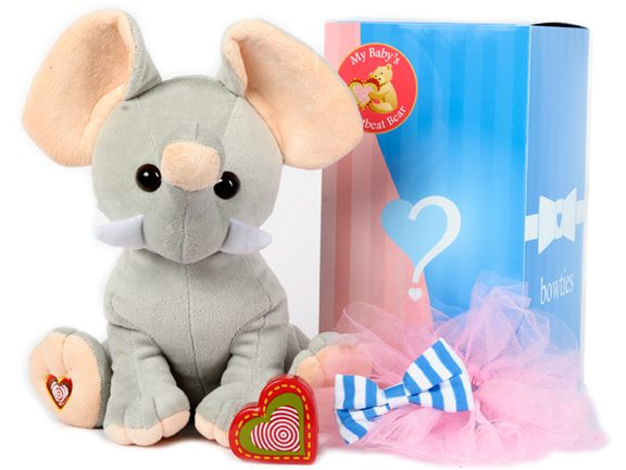 gender reveal, stuffed animal