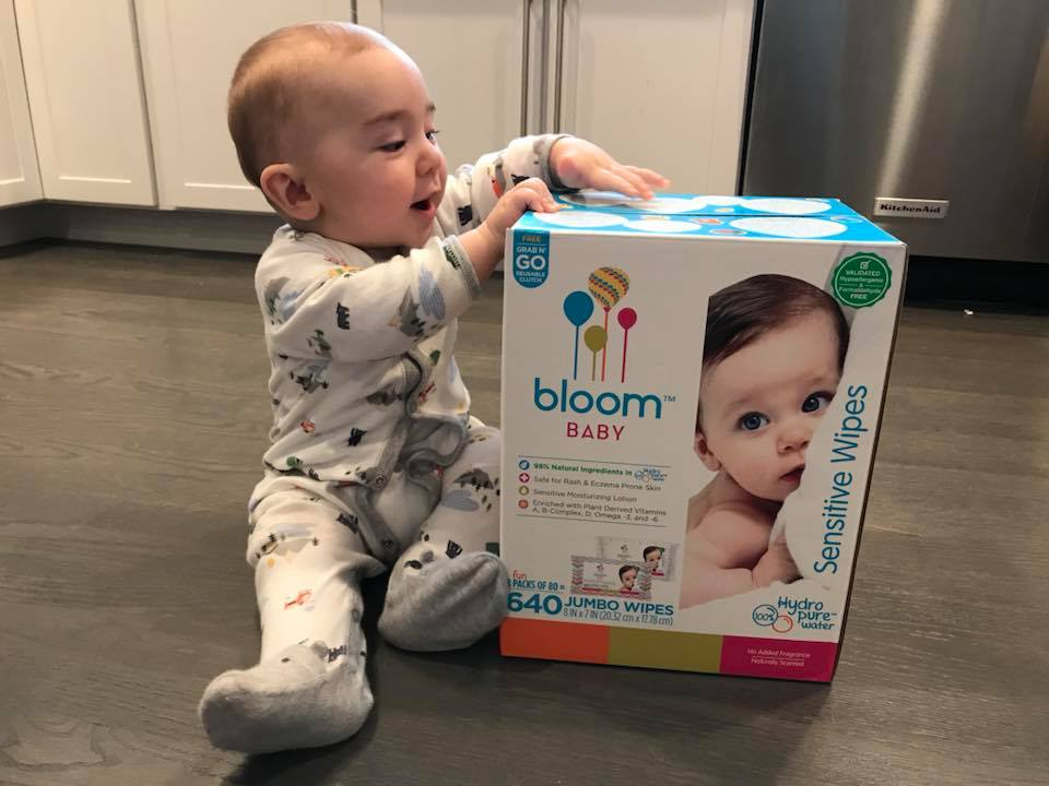 bloom BABY all natural wipes